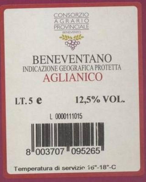 AGLIANICO 'Bag in Box; IGP 5 Liter - rosso